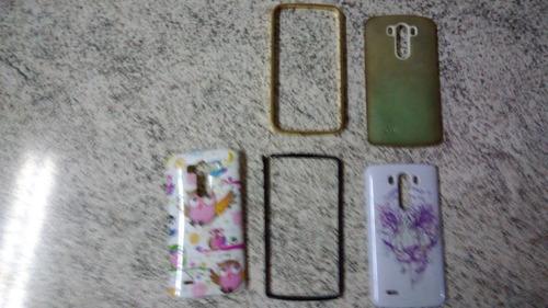 02 celulares lg d855 com defeito! na caixa + acessorios!