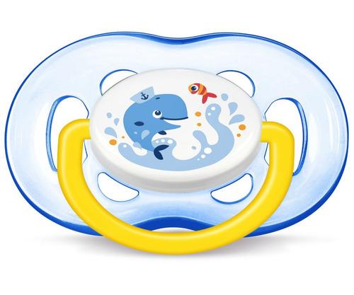 02 chupetas freeflow azul baleia pinguim 18+ scf186/24
