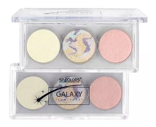 02 kit de paleta iluminador galax sp colors cores a e b.