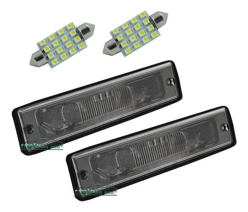 02 lanterna luz iluminação placa do tempra + lampada 16 leds