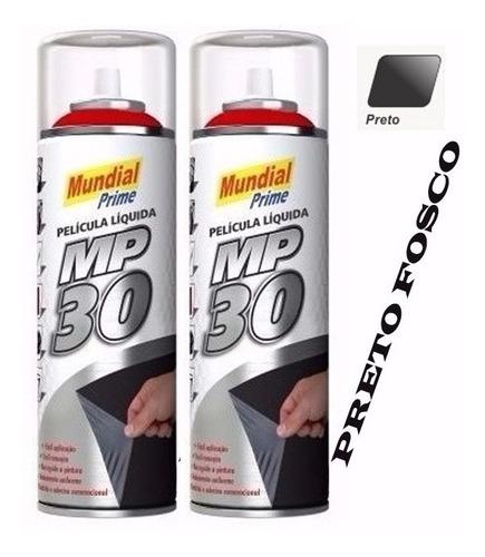 02 latas mp30 envelopamento líquido película preto fosco