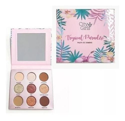 02 paletas de sombra city girls tropical paradise 2 versóes.