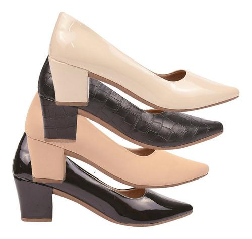 02 pares sapato scarpin feminino chiquiteira chiqui/1421