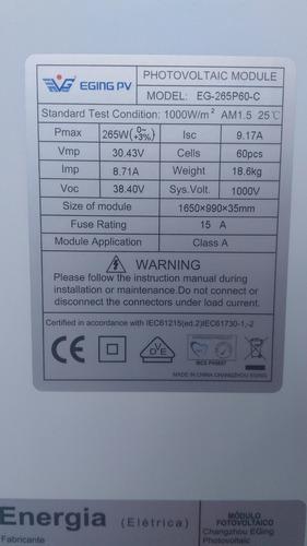 02 pcs de placa painel modulo solar 265 / 260 /250 (32volts)