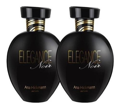 02 perfumes ana hickmann elegance noir 2x80ml original