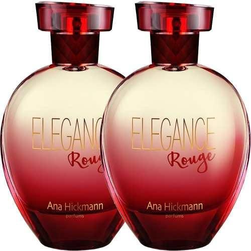02 perfumes ana hickmann elegance rouge 2x80ml original