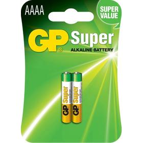 02 Pilhas Aaaa 4a Mini Alcalina Super Gp - 1 Cartela C/2un