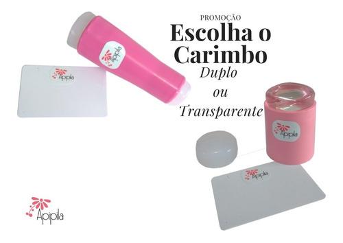 02 placas carimbos unhas + carimbo + 2 esmalte kit 012a