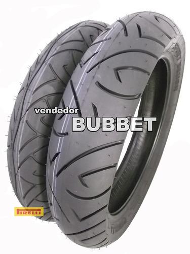 02 pneus 140/70-17 + 110/70-17 pirelli sport demon fazer 250