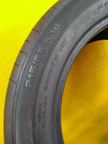 02 pneus continental 215 / 55 r18 95h  contipremium usados