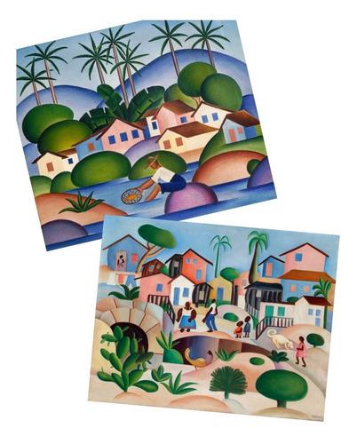 02 poster tarsila do amaral pescador  + morro da favela