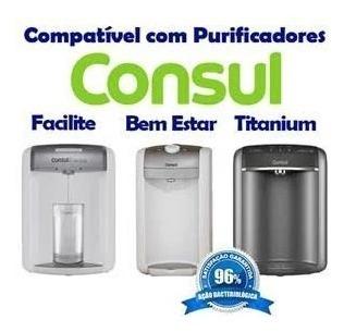 02 refil filtro purificador água consul bem estar c/ bateria