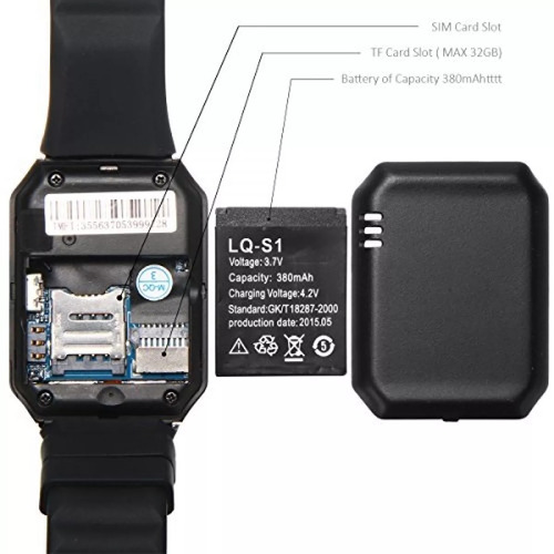 714d8c0fed4 02 Relógio Bluetooth Smartwatch Dz 09 Android - Chip - R  149
