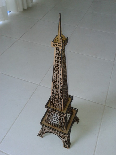 02 torres eiffel em mdf 3mm, 30cm altura