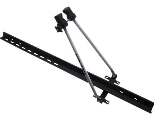 02 transbikes de teto projecar  suporte para 2 bikes aço par
