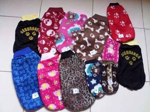 02 unidades roupas de cachorros soft sueter pet shop caes
