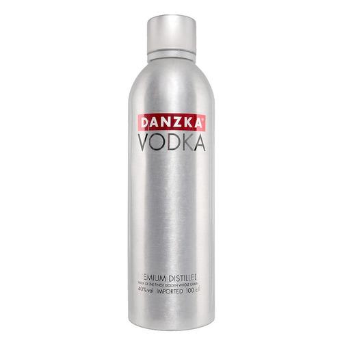 02 Vodka Danzka Garrafa Alumínio 1litro Original E Sabores!