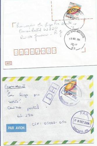 021 - lote c/12 envelopes circulados brasil - diferentes