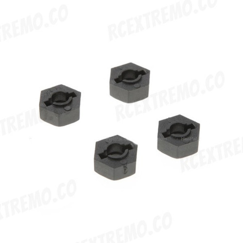 02100 six angle nuts mount x 4 und. para carros rc redcat