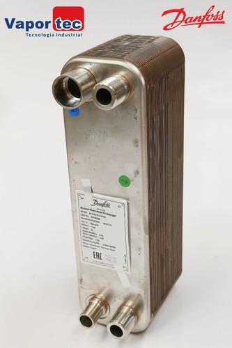 021h5263 trocador de placas brasadas danfoss 1.1/4  - 7,5 tr
