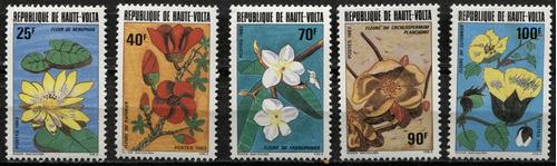 0299 flores diferentes haute volta 5 p mint n h 1982