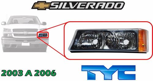 03-06 chevrolet silverado cuarto frontal lado izquierdo tyc