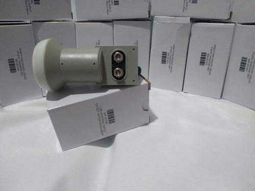 03 antenas banda ku + cabo + conector + lnb duplo
