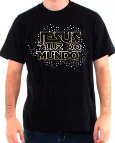 6adbd22f6 Camiseta Jesus Luz Do Mundo - Camisetas e Blusas no Mercado Livre Brasil