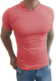 86e29b720c Camiseta Manga Curta Com Capuz Masculina - Calçados
