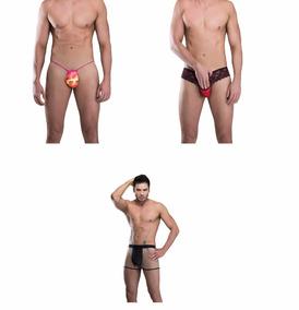 4361e84fe 03 Cuecas Sexy Calcinha Fio Dental P  Homens Gays Sensual