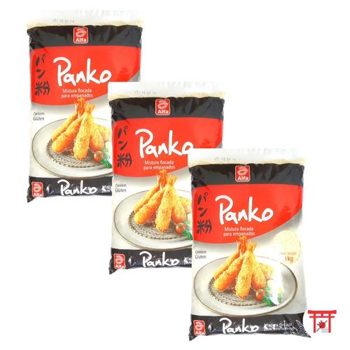 03 farinha panko para empanar tempurá frituras alfa 1kg