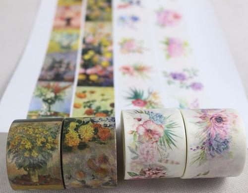 03 fitas adesiva washi tape 10m /3cm de largura 3 temas
