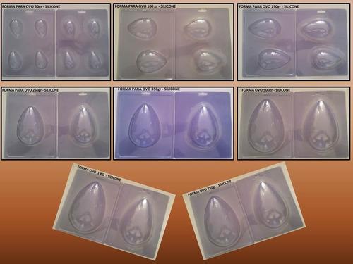 03 formas silicone ovo de páscoa ou trufas top mercado livre