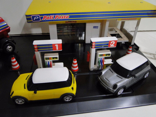 03 miniaturas posto policia bombeiro combustivel escala 1/32