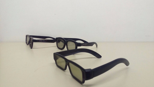 03 oculos 3d universal passivo polarizado real d 3d original