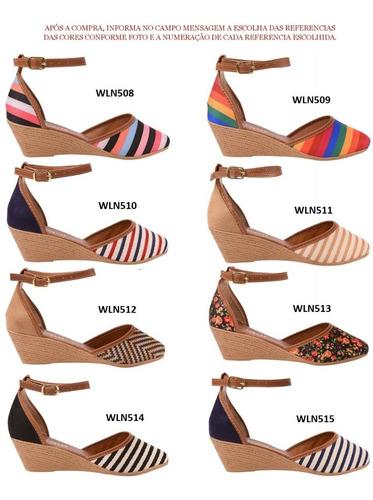 03 pares sandália sapato feminina chiquiteira chiqui/9816