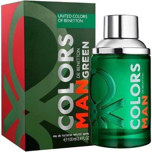 03 perfumes colors green benetton masculino edt 3x100ml