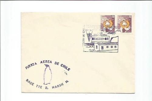 03 - um envelope de chile com carimbo da antarctica