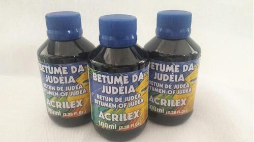 03 unidades de betume da judéia acrilex 100ml