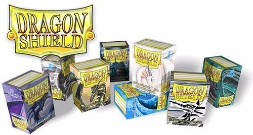 03 x dragon shield sleeves 100 unidades - melhor preço