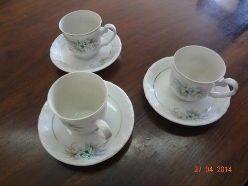 03 xícaras para café - steatita (década de 1980)