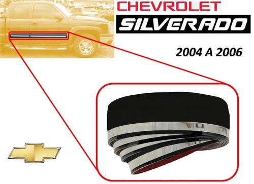 04-06 chevrolet silverado rollo moldura lateral 4 metros