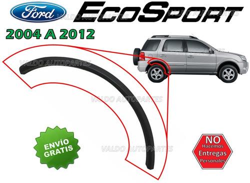 04-12 ford ecosport moldura arco parte trasera costado der.