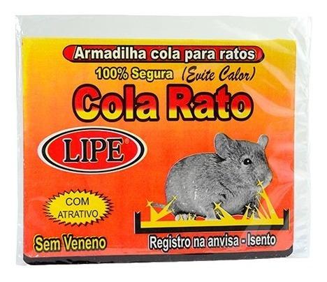 04 caixas 80 un ratoeira adesiva visgo pega cola rato aeio@