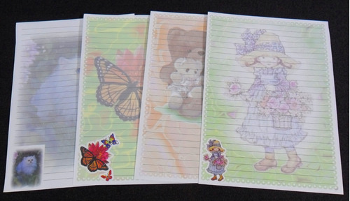 04 coleção papel de carta com frete grátis
