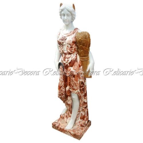04 estações 180cm em marmore carrara colorida vermelho