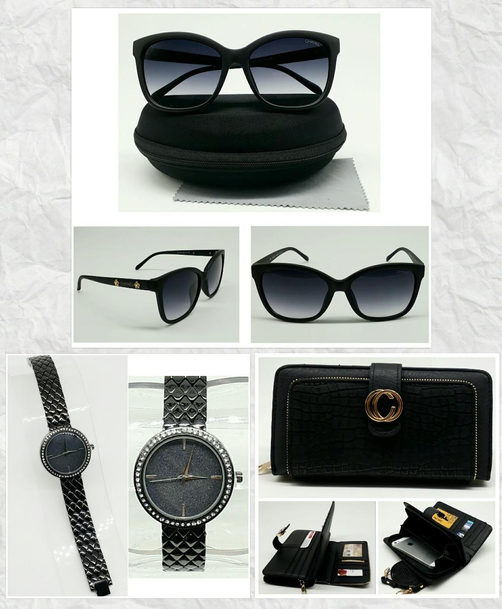 8ac5e8741c971 04 Kit Relógio Feminino + Óculos De Sol + Carteira - Atacado - R ...