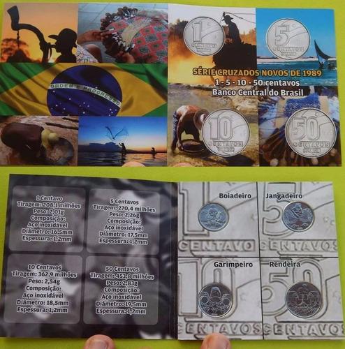 04 moedas de centavo no folder comemorativo + super brinde