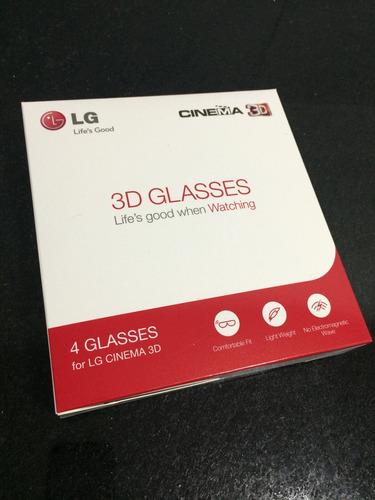 04 óculos 3d lg - novos - na caixa!