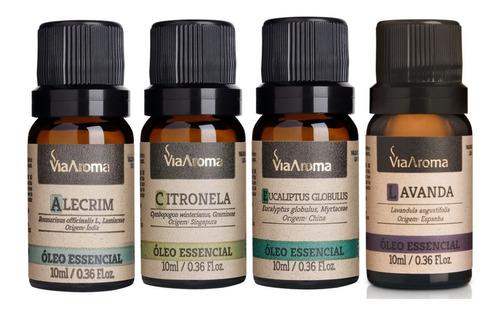 04 óleos essenciais via aroma aromaterapia 10ml